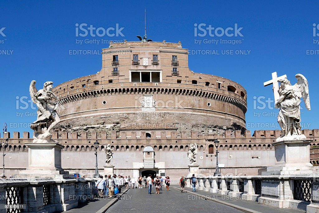 Angel castle in Rome stock photo