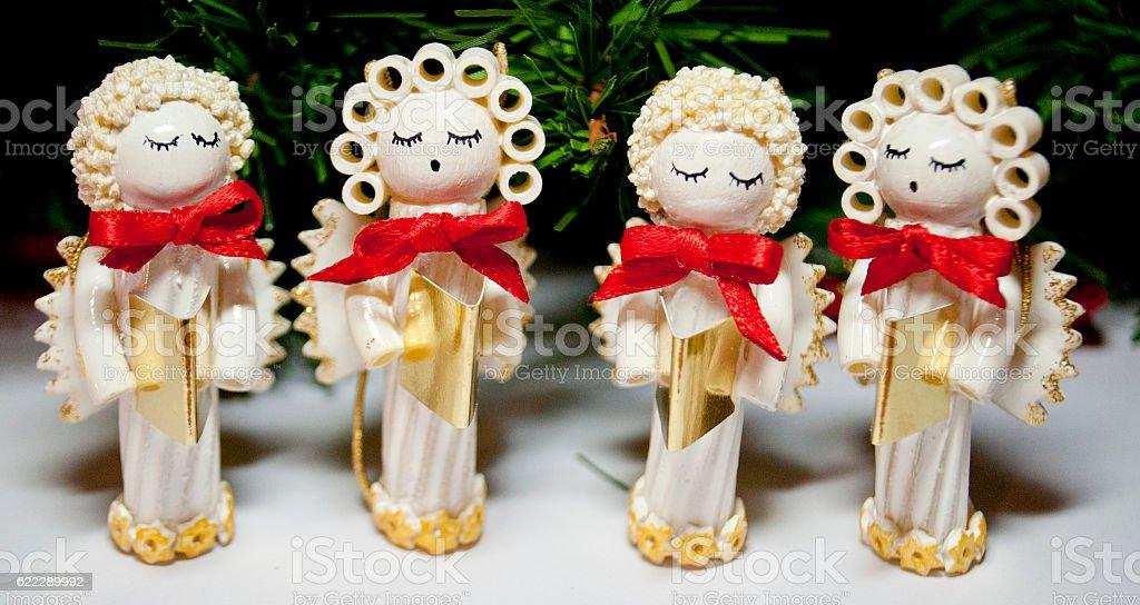 Angel Christmas ornamens stock photo