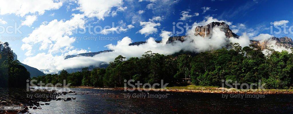 Angel Falls in Venezuela stock photo