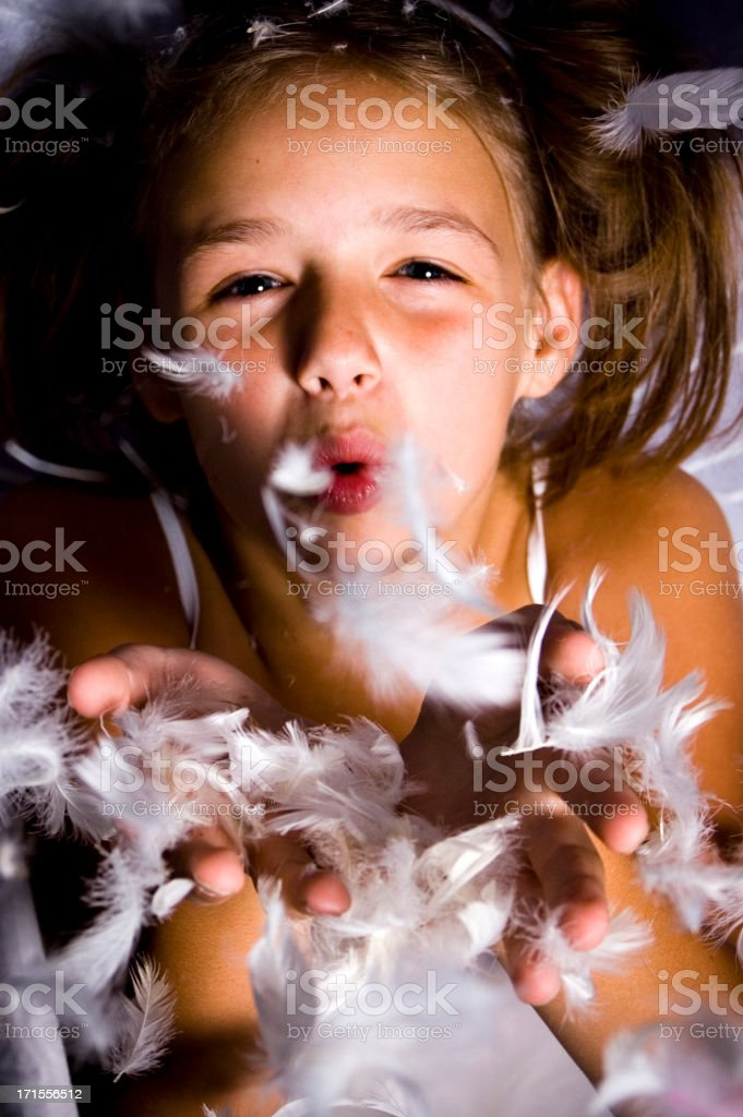 angel feathers royalty-free stock photo