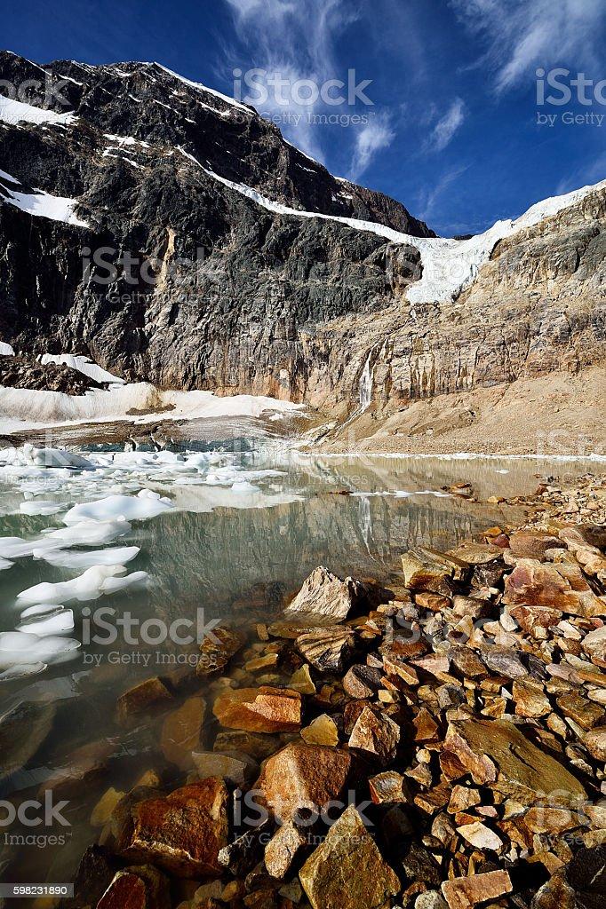 Angel Glacier Mount Edith Cavell foto royalty-free