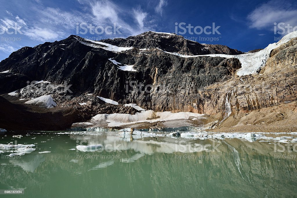 Angel Glacier Mount Edith Cavell foto royalty-free
