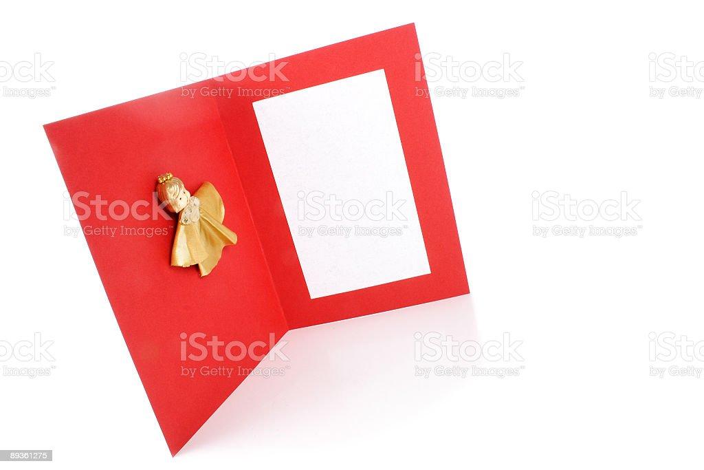 Angel greeting card royalty free stockfoto