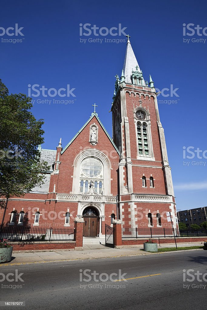 Angel Guardian Church in West Ridge. Chicago royalty-free stock photo