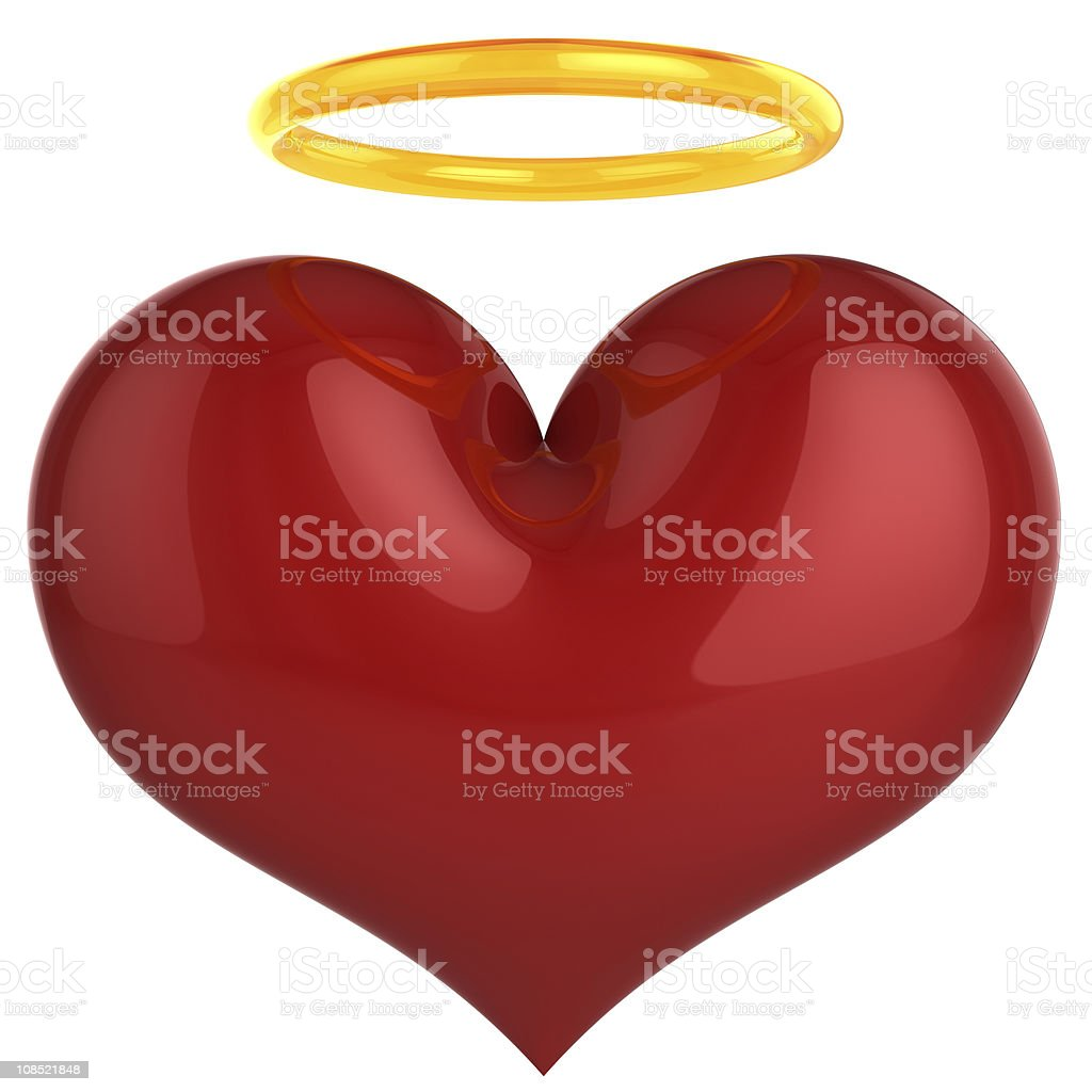 Angel heart. Holy Love concept (Hi-Res) stock photo