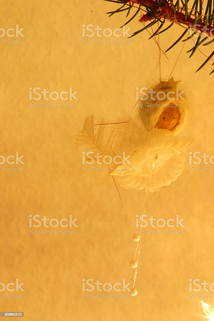 Angel in a yellow aura royalty-free stock photo