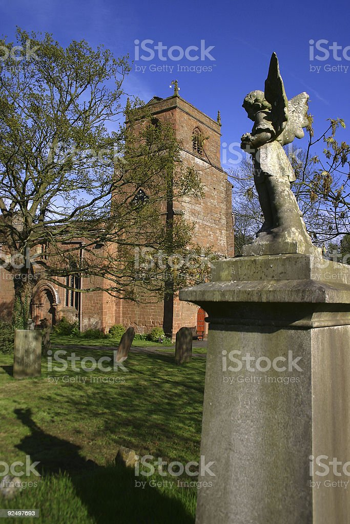 Angel in Churchyard royalty-free stock photo