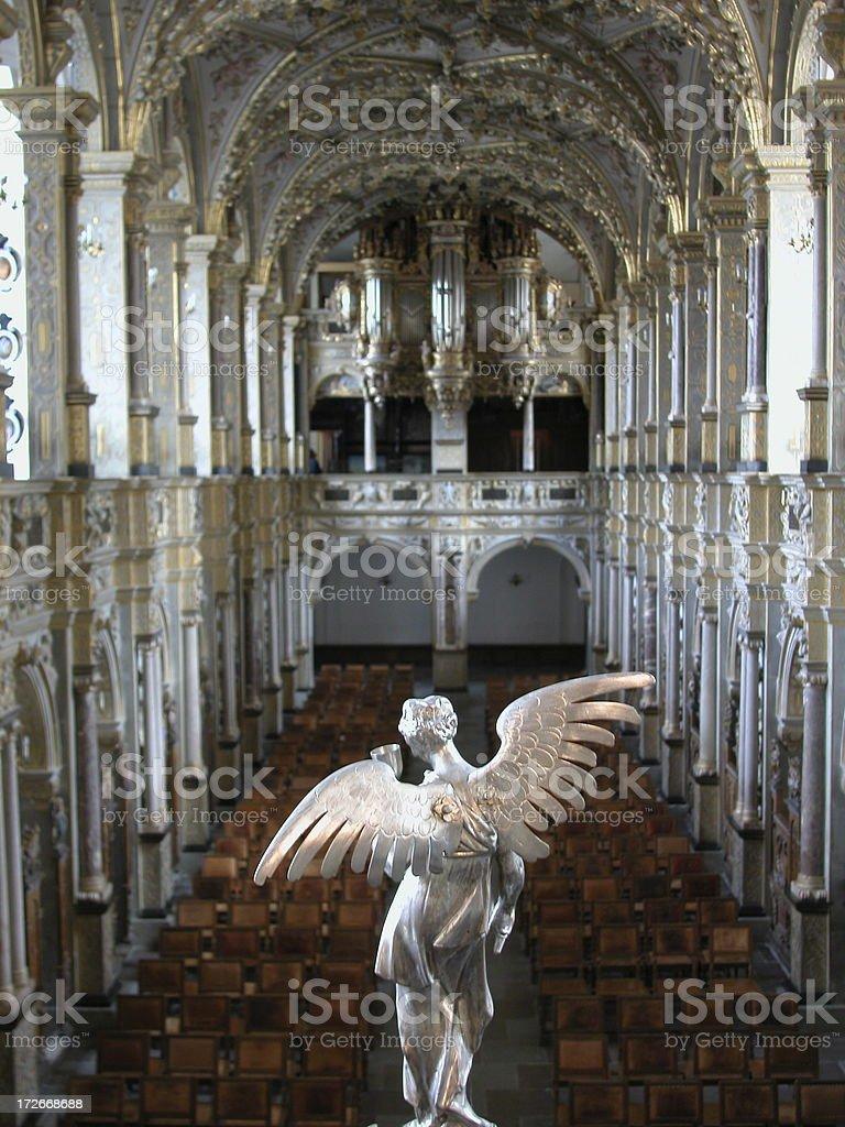 angel in Danish church 1 stock photo