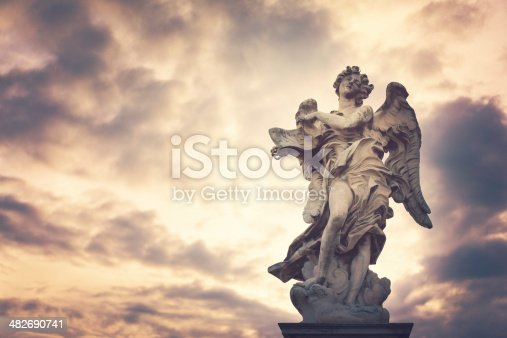 Baroque picture frame. Clipping path included.
