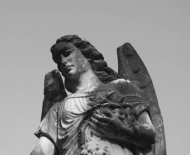 Angel in the Graveyard stock photo