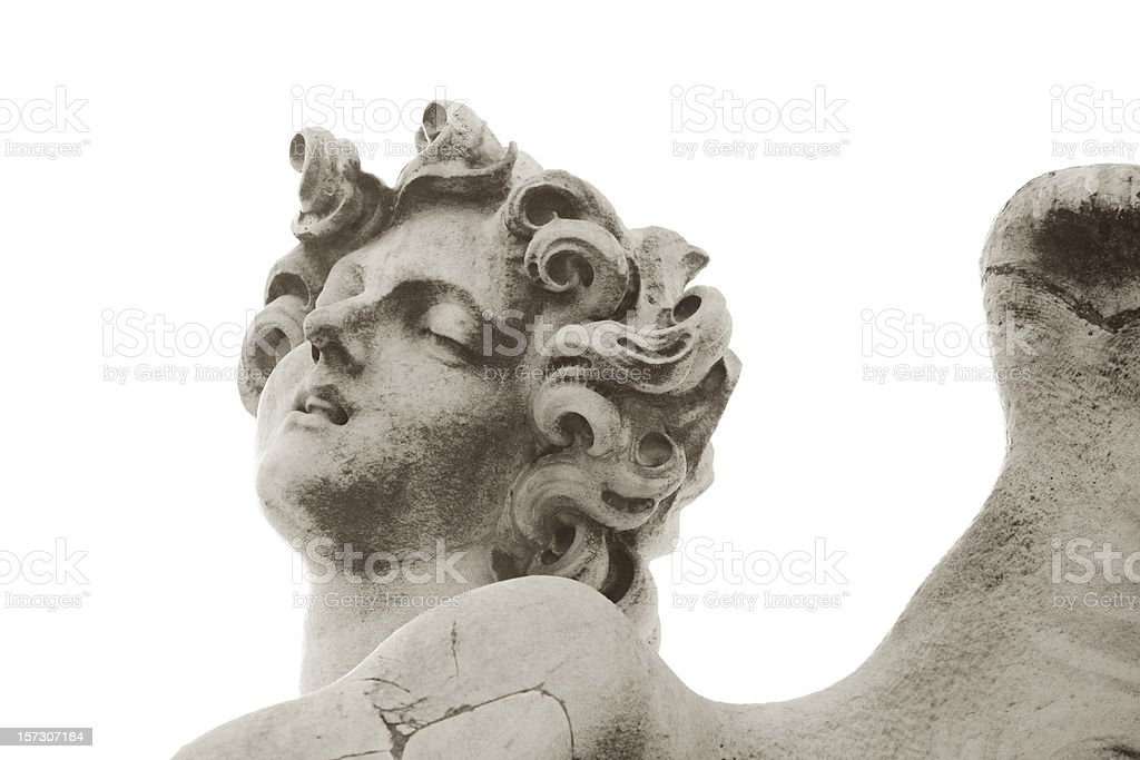 Angel isolated on white, Ponte Sant'Angelo stock photo