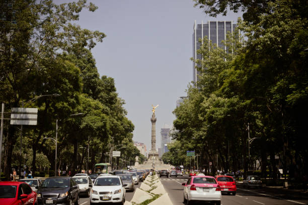Angel of Independence monument at Mexico City stock photo