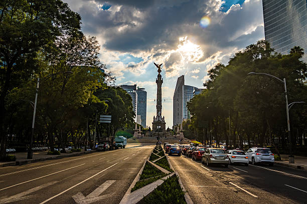 angel of independence monument - mexico city, mexico - mexico stock photos and pictures