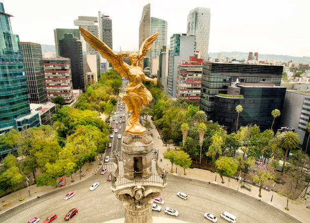 angel of independence - mexico stock photos and pictures