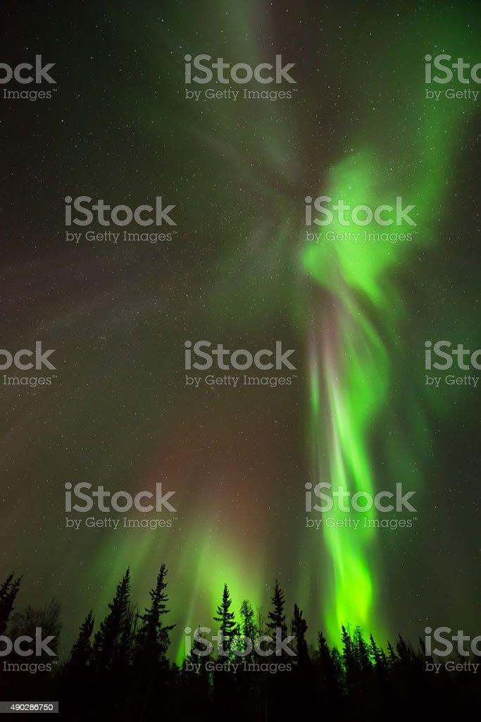 Angel of Northern Lights stock photo