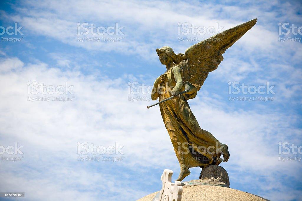 Angel of te Cemetery stock photo