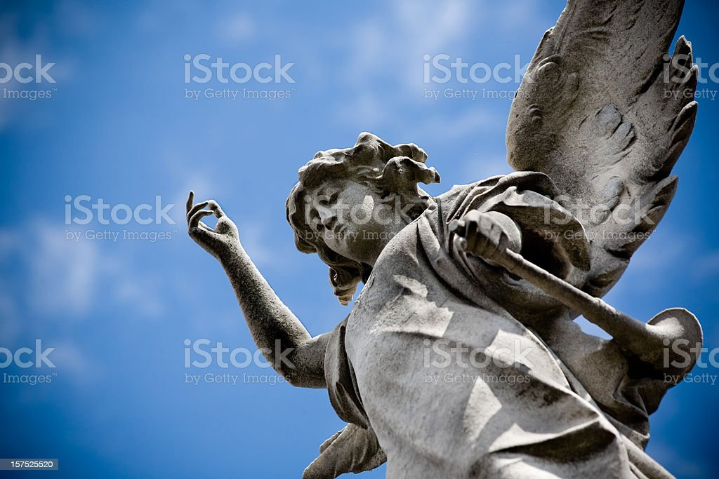 Angel of the cemetery stock photo