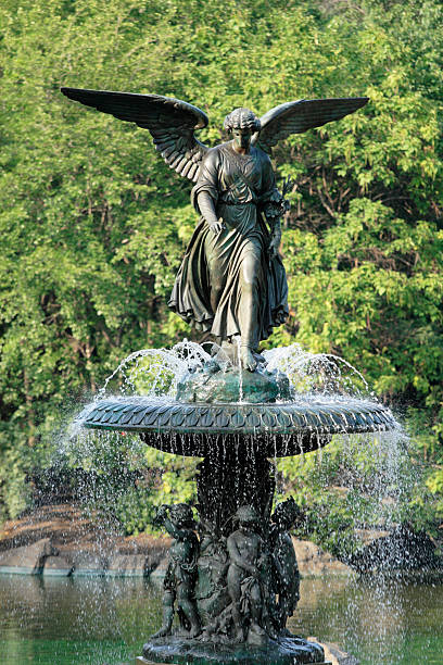 Angel of The Waters Fountain stock photo