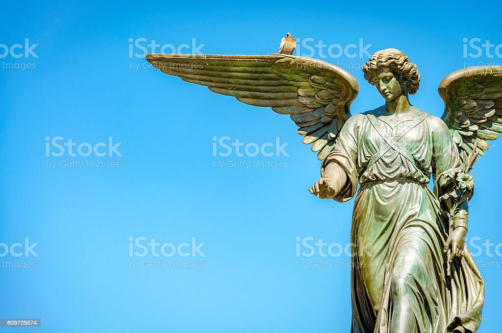 Angel of the waters stock photo