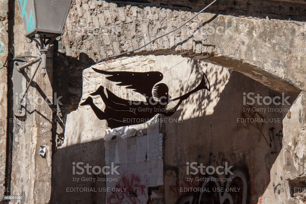 Angel of Užupis stock photo