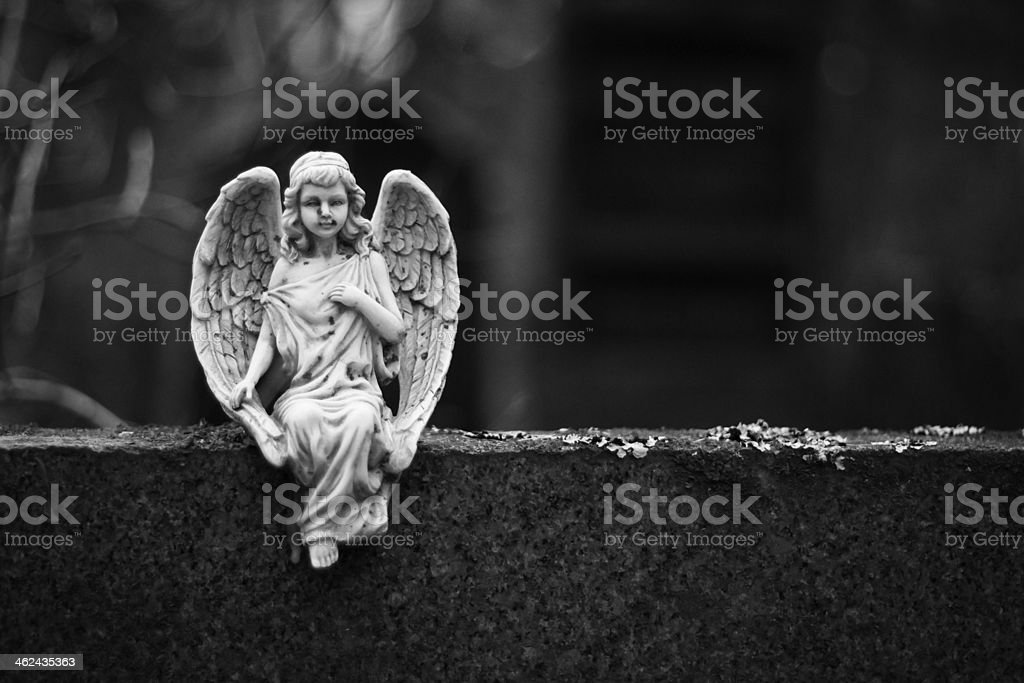 Angel on a Rock stock photo