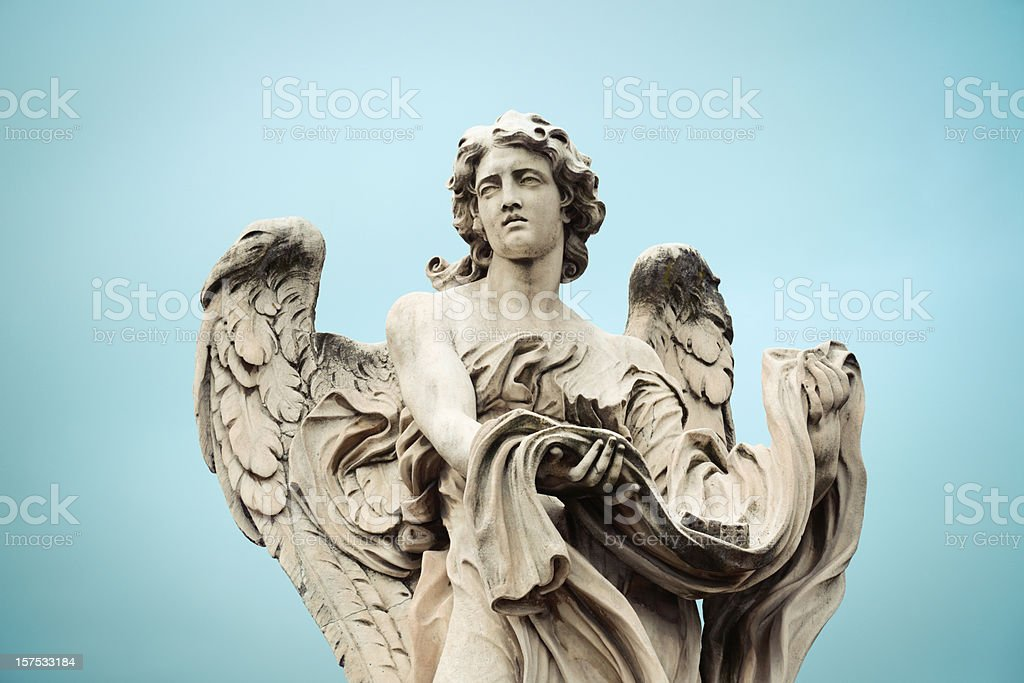 Angel on Ponte Sant'Angelo  in Rome, Italy royalty-free stock photo