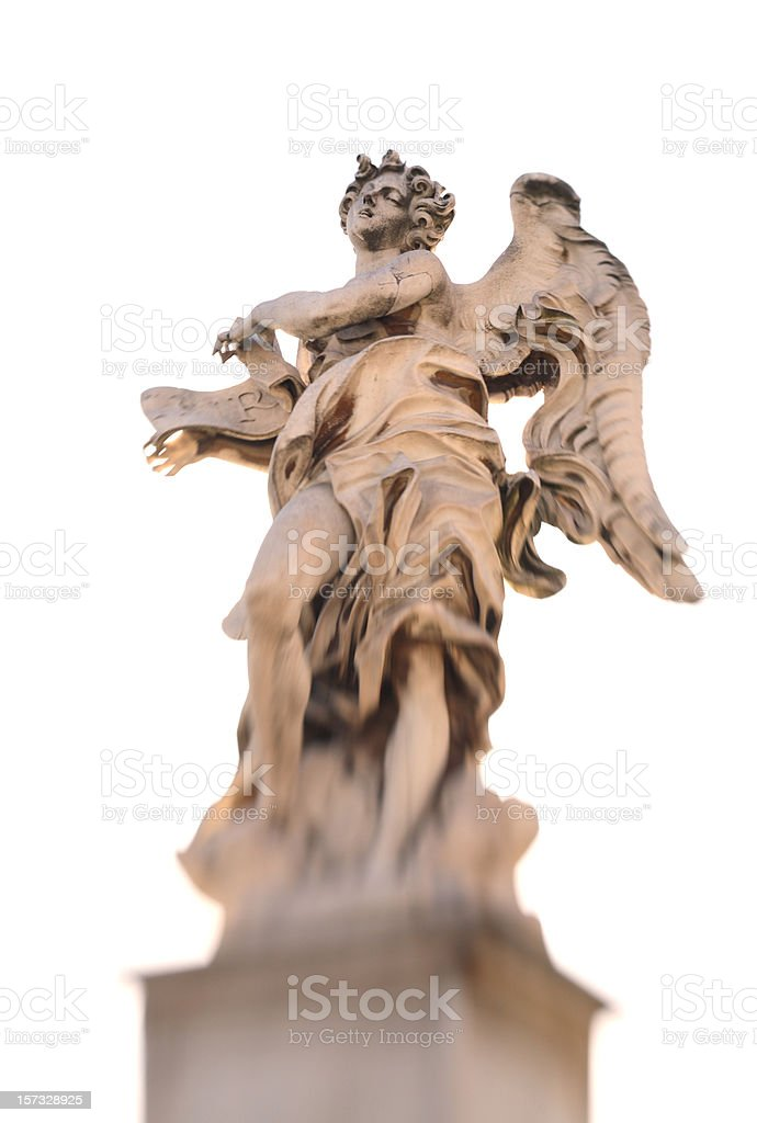 Angel on Ponte Sant'Angelo, Rome Italy royalty-free stock photo