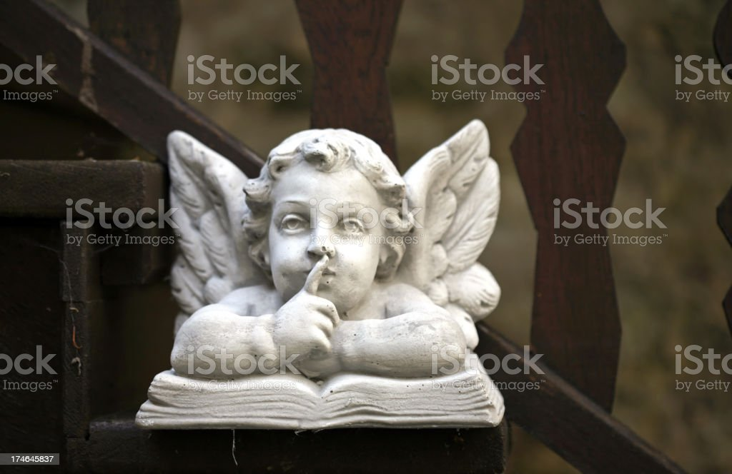 Angel on stairway royalty-free stock photo