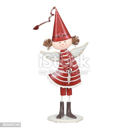 Angel isolated on white background with clipping path.