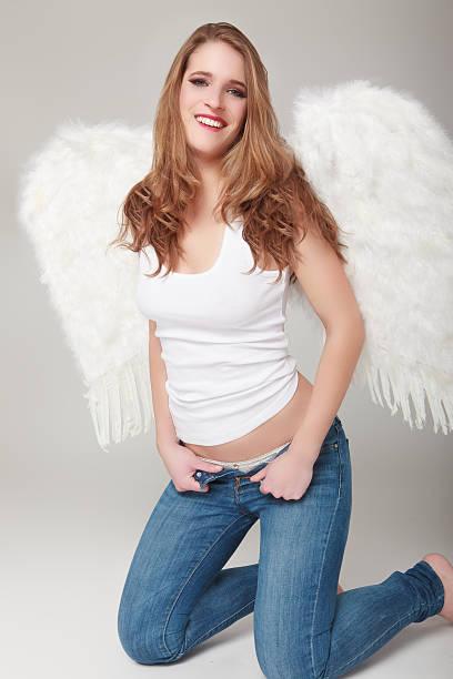angel - damen hosen angels stock-fotos und bilder