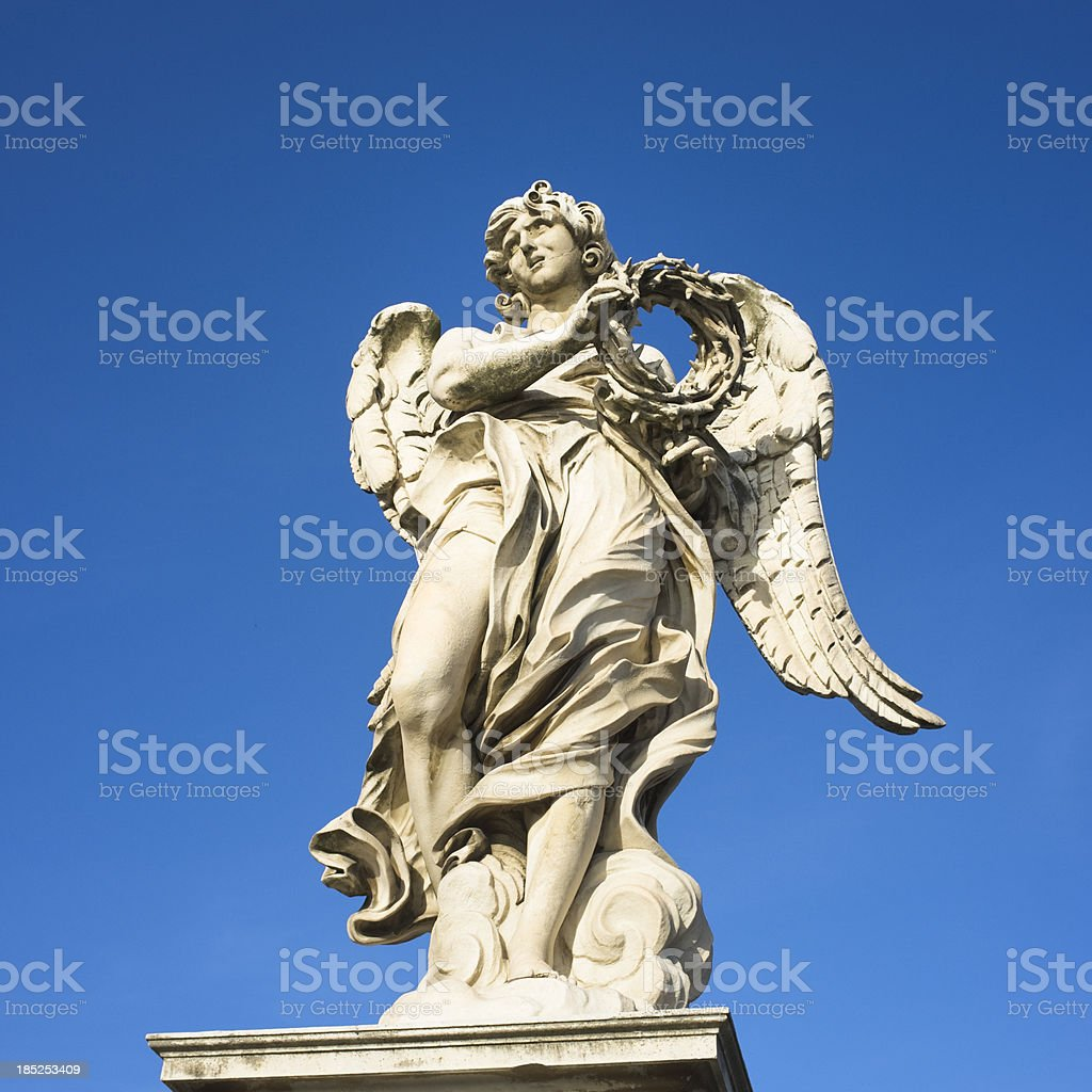 Angel, Rome stock photo