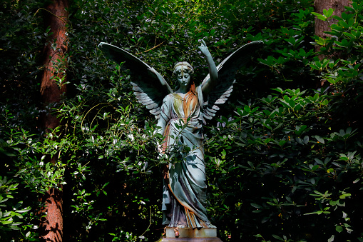 Angel sculpture at the Ohlsdorf Cemetery, Hamburg, Germany