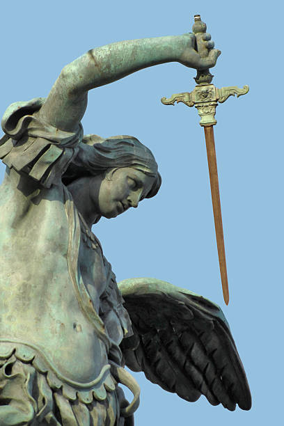 Escultura del ángel - foto de stock