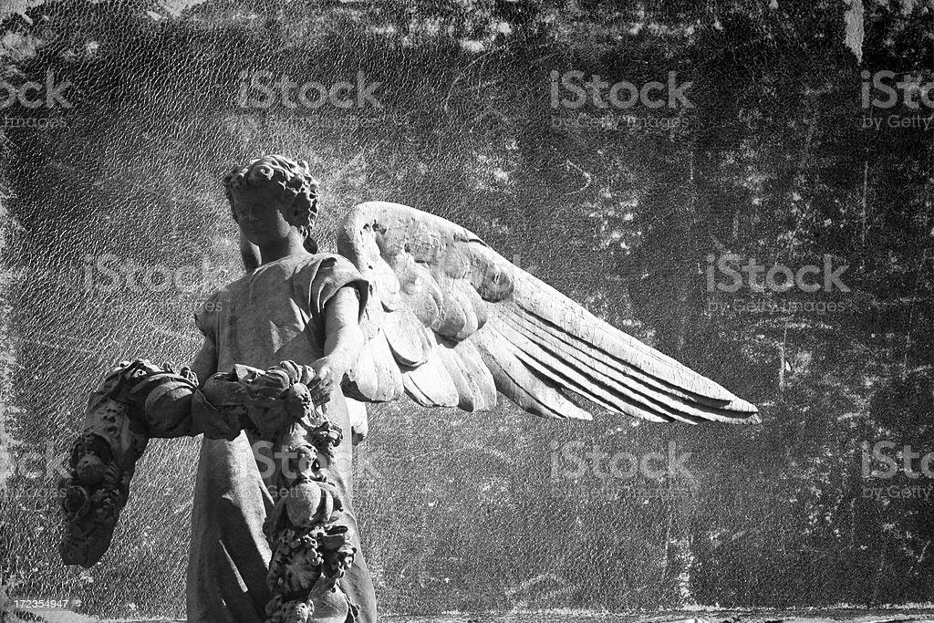 Escultura del ángel foto de stock libre de derechos