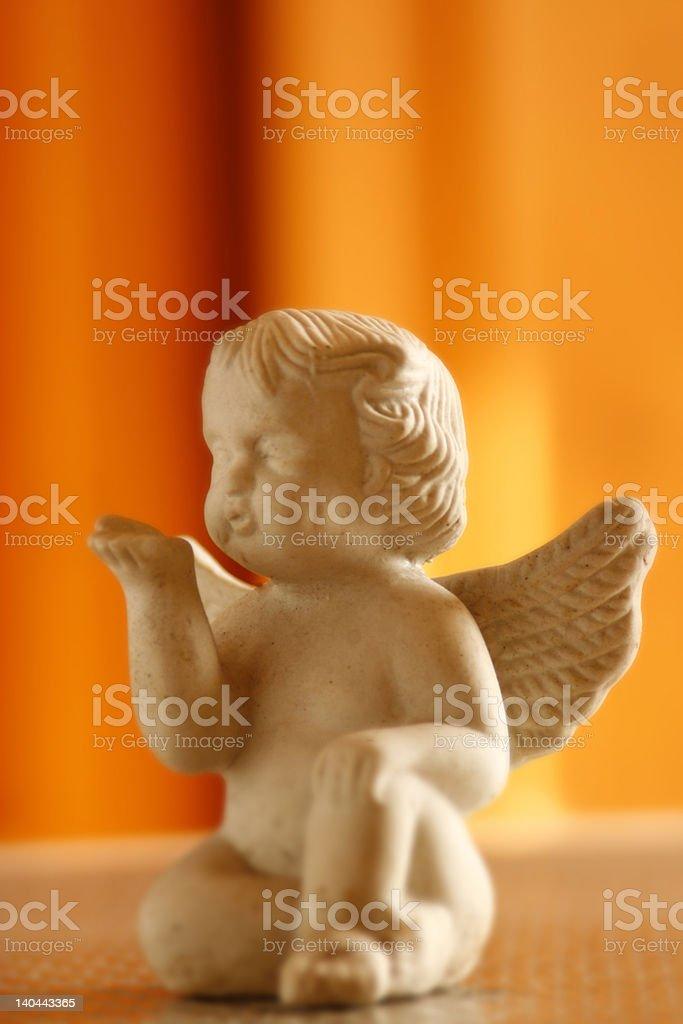 angel sending kisses royalty-free stock photo