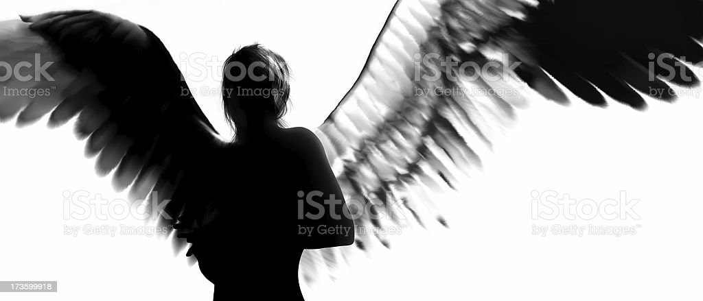 Angel Silhouette stock photo