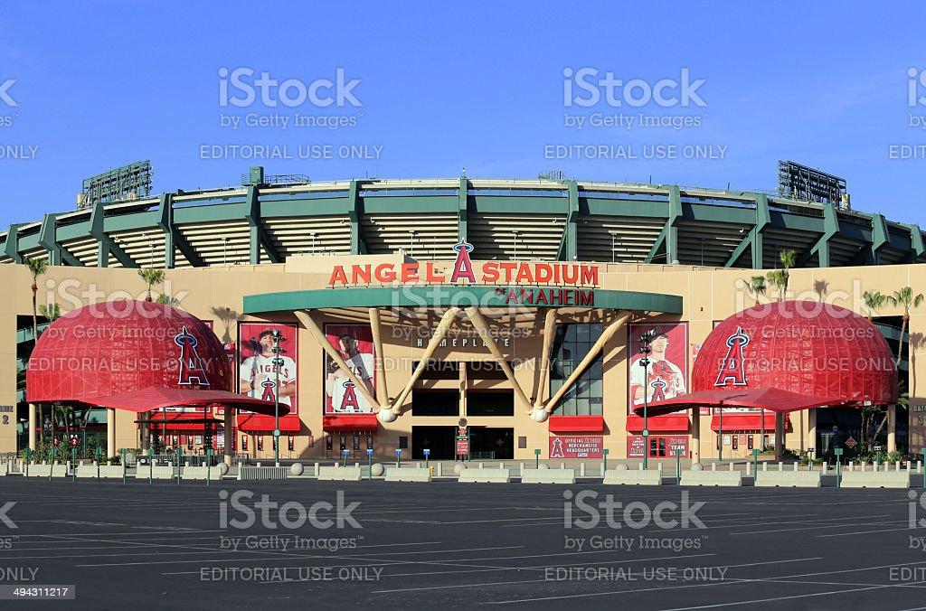 Angel Stadium of Anaheim stock photo