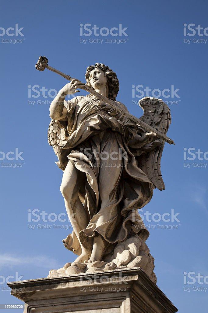 Angel statue stock photo