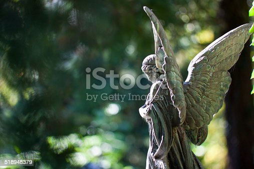 Angel statue at the Melaten Graveyard in Cologne