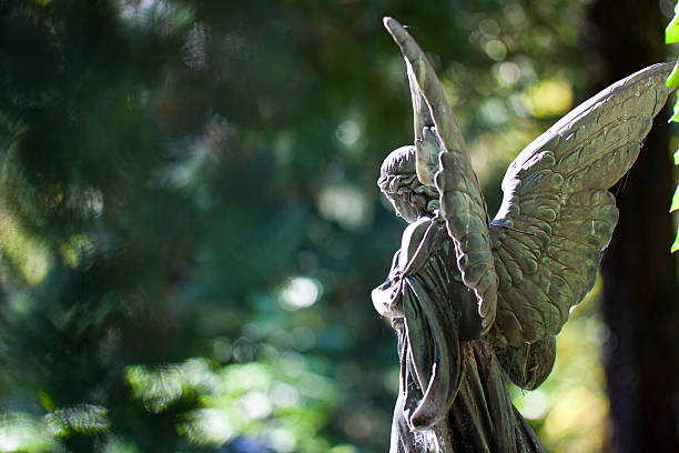 angel statue - angel stock photos and pictures