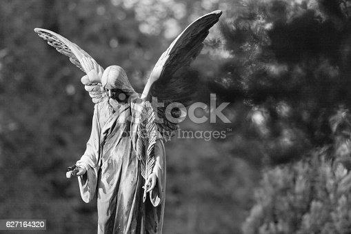 Angel statue at the Melaten Graveyard (Melatenfriedhof) in Cologne.