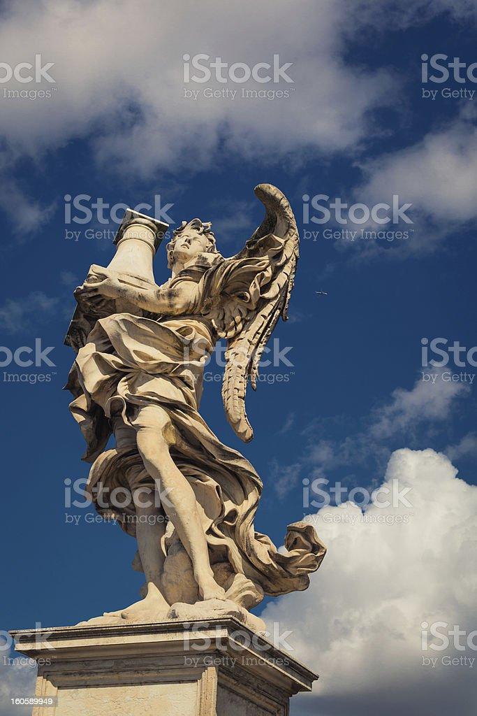Angel statue rome italy royalty-free stock photo