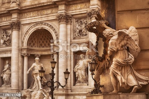 The Trevi Fountain is a fountain in the Trevi district in Rome, Italy