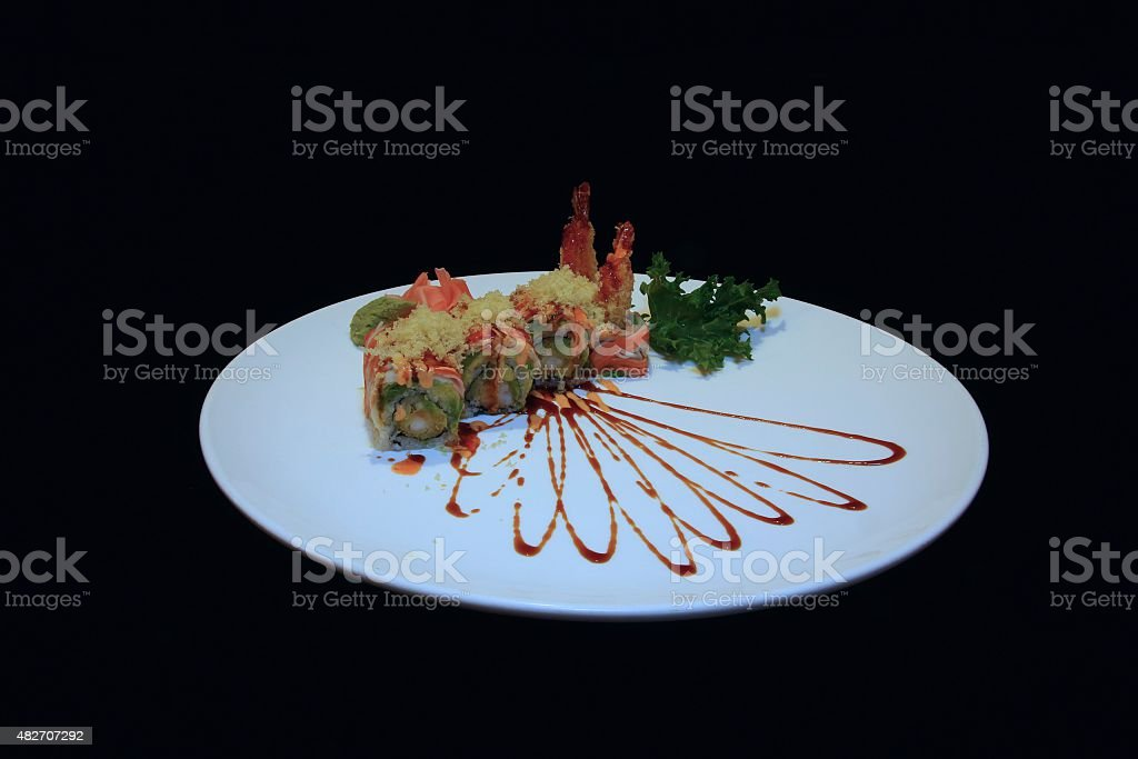 Angel Wing Sushi Roll stock photo