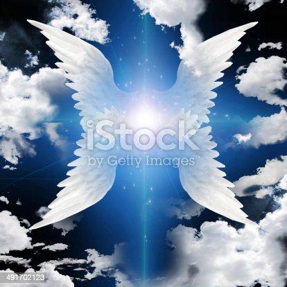 istock Angel winged 491702123