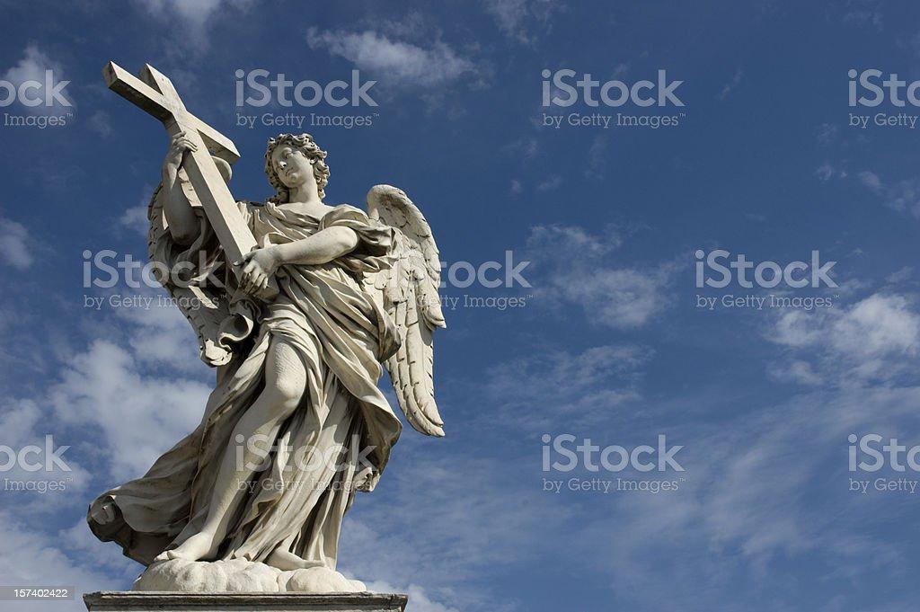 Angel com Cross - foto de acervo