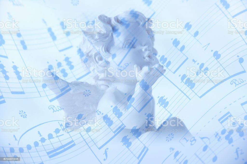 Angel with musical score