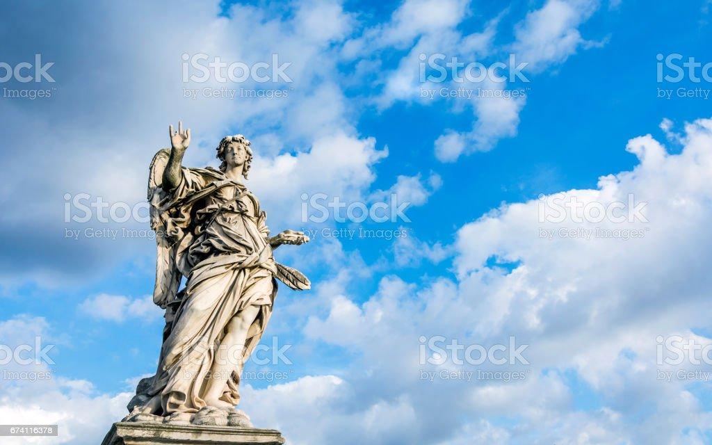 天使與釘子 免版稅 stock photo