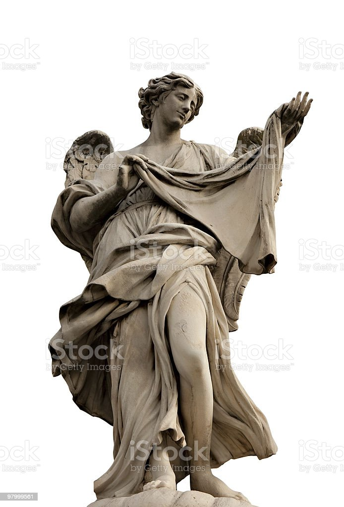 Angel with the Sudarium royalty-free stock photo