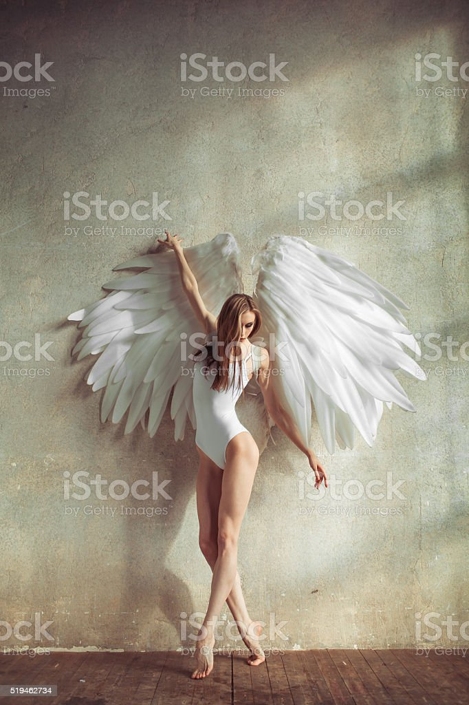 angel woman stock photo